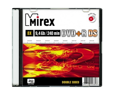 Картинка Диск DVD+R Mirex 9,4 Гб 8x Slim Double Side
