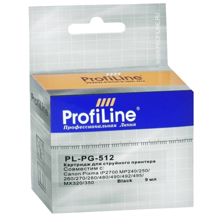 Картинка Картридж ProfiLine PG-512 для Canon PIXMA MP240/MP250/MP260/MP270 Black 14 мл